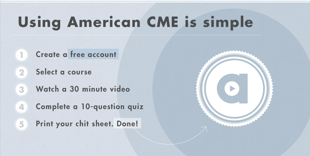 Using American CME is simple